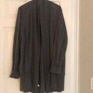 LOFT Gray Cardigan Sweater